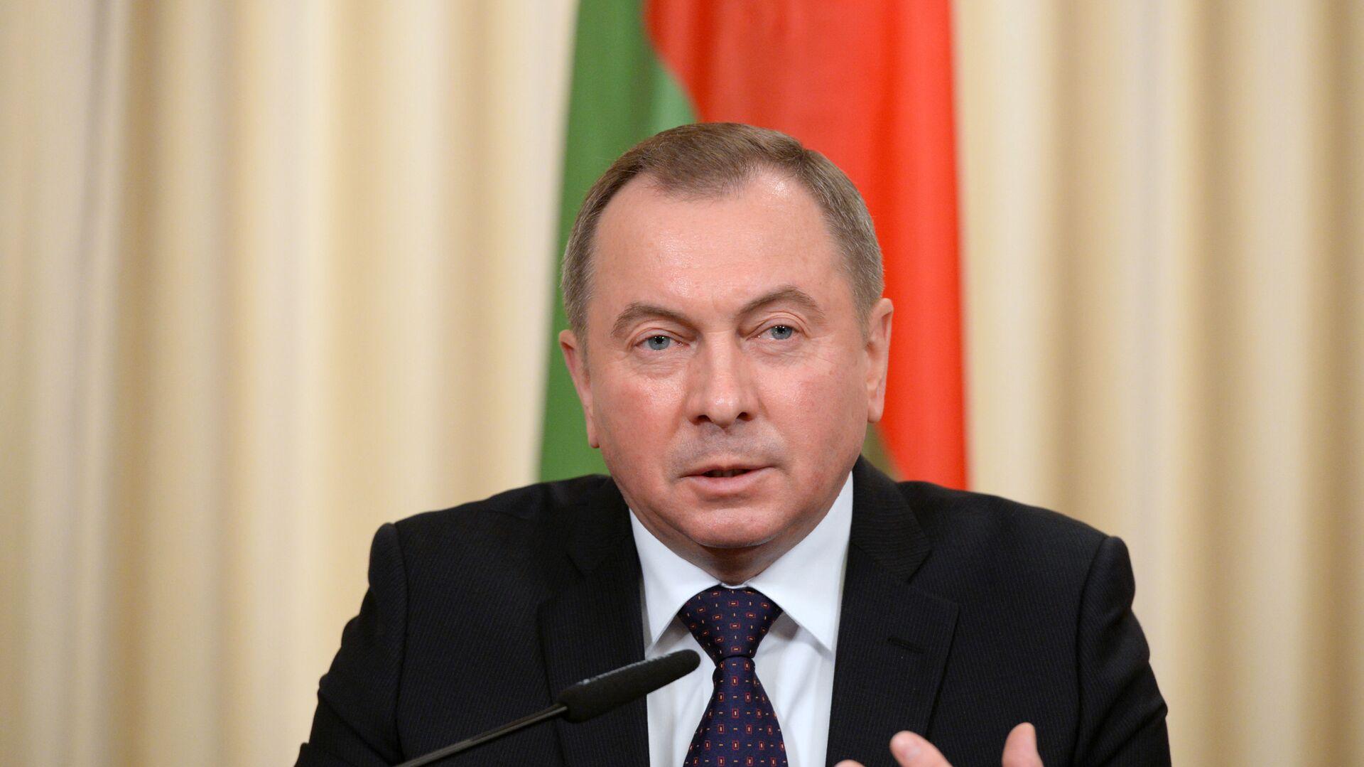Minister spraw zagranicznych Białorusi Uładzimir Makiej - Sputnik Polska, 1920, 08.08.2021