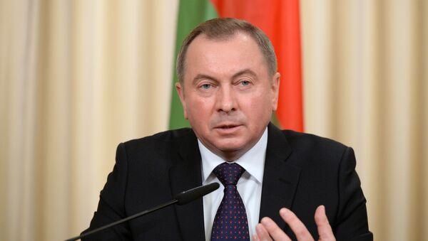 Minister spraw zagranicznych Białorusi Uładzimir Makiej - Sputnik Polska