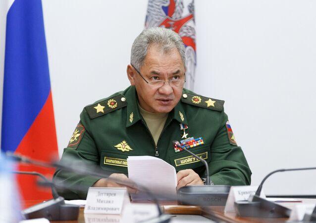 Minister obrony Federacji Rosyjskiej Siergiej Szojgu