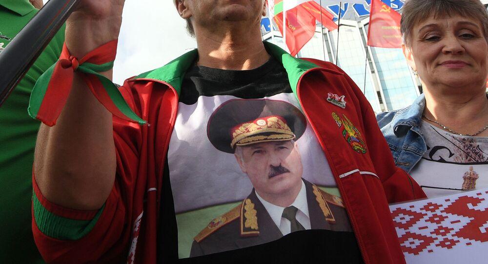 Wiec zwolenników Alaksandra Łukaszenki