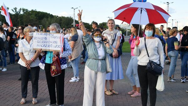 Akcja protestu w Mińsku - Sputnik Polska