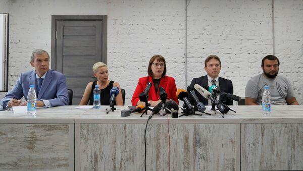 Przedstawiciele biaoruskiej Rady Koordynacyjnej: Paweł Łatuszka, Maria Kolesnikowa, Wolha Kawalkawa, Maksim Znak i Siergiej Dylewski - Sputnik Polska