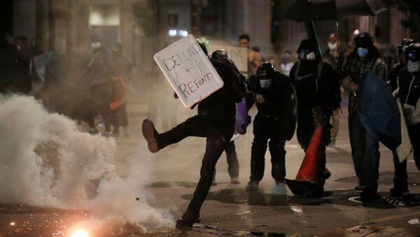 Protesty w stanie Nowy Jork - Sputnik Polska