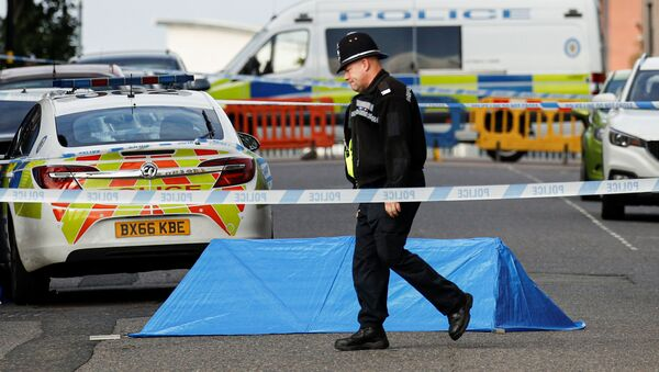 Policja na miejscu incydentu w brytyjskim Birmingham - Sputnik Polska