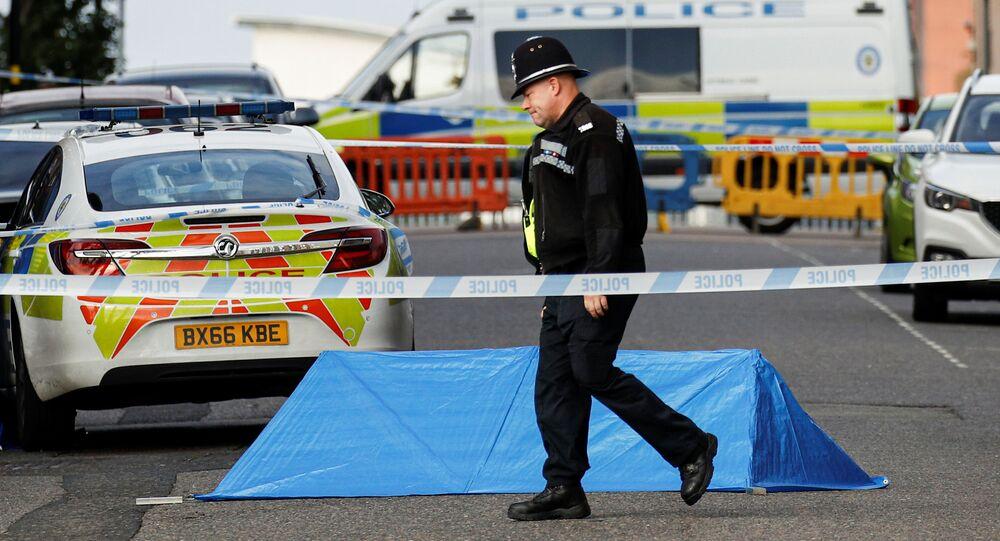 Policja na miejscu incydentu w brytyjskim Birmingham