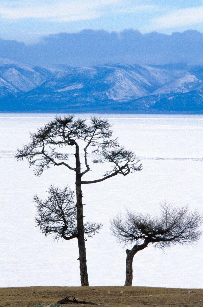 Widok na jezioro Bajkał, 1988 rok