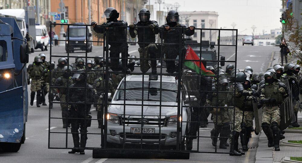 Protesty w Mińsku. Plac Niepodległości