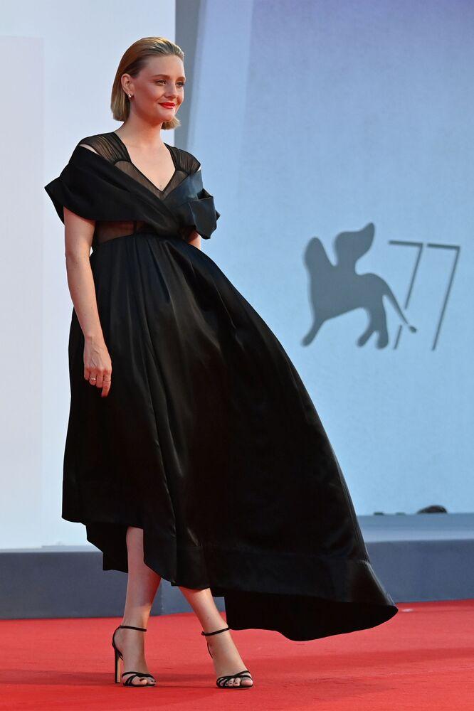 Aktorka Romola Garay na festiwalu filmowym w Wenecji.