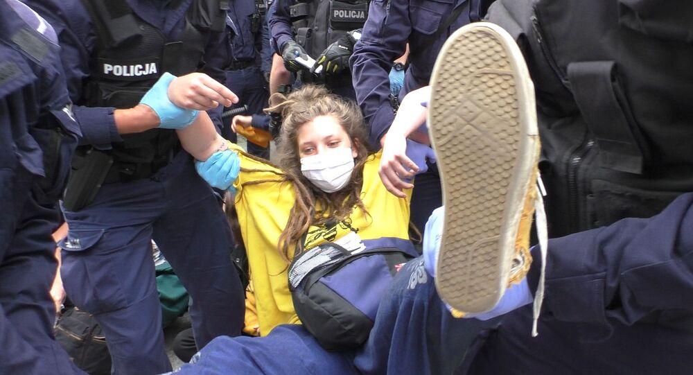Protesty w Warszawie ws.klimatu