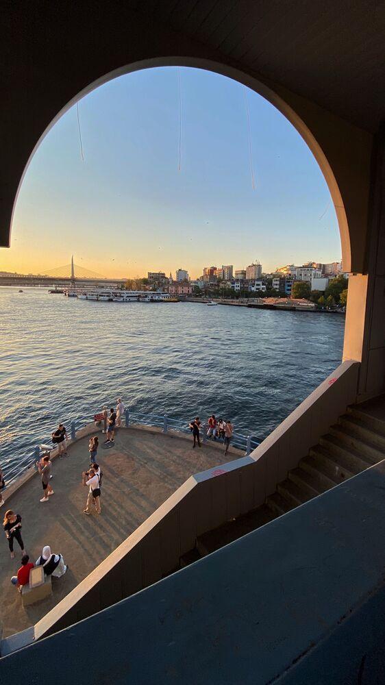 Widok z mostu Galata w Stambule