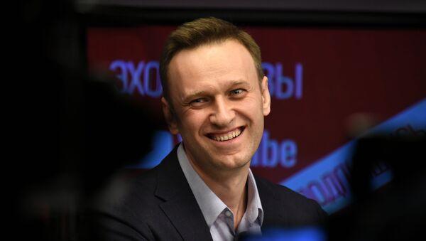 """Aleksiej Nawalny podczas wywiadu na antenie radia """"Echo Moskwy"""" - Sputnik Polska"""
