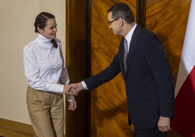 Spotkanie premiera Mateusza Morawieckiego z białoruską opozycjonistką Swiatłaną Cichanouską