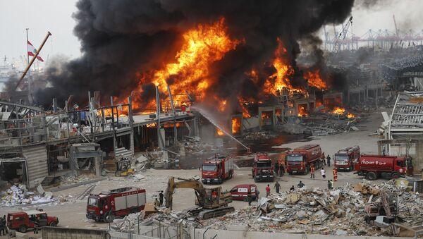 Pożar w Bejrucie - Sputnik Polska