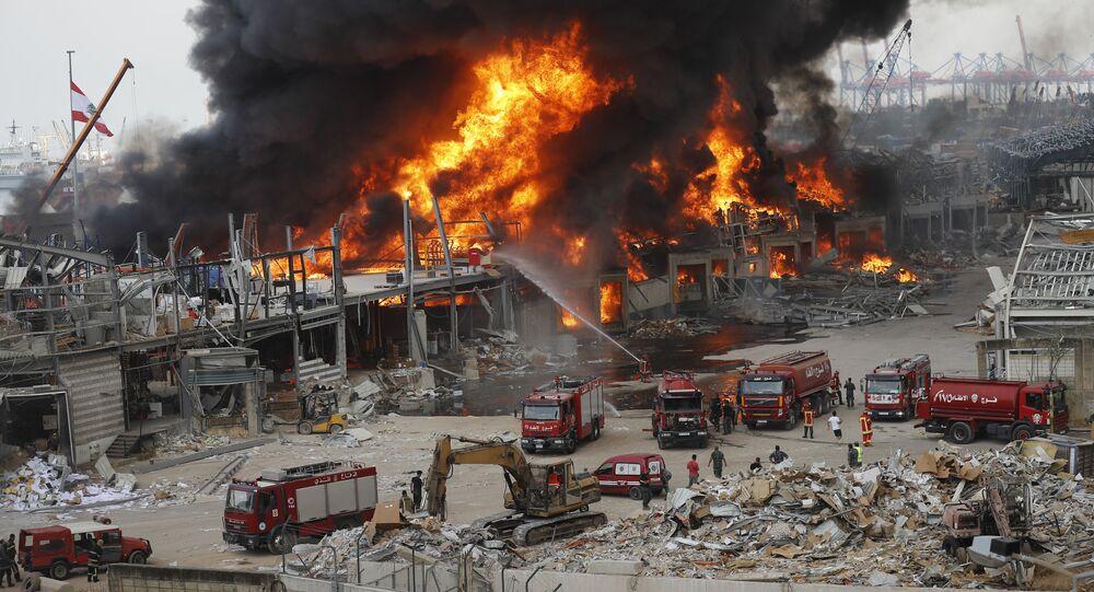 Pożar w Bejrucie.