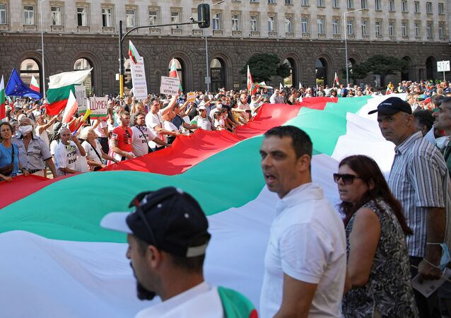 Antyrządowe protesty w Bułgarii