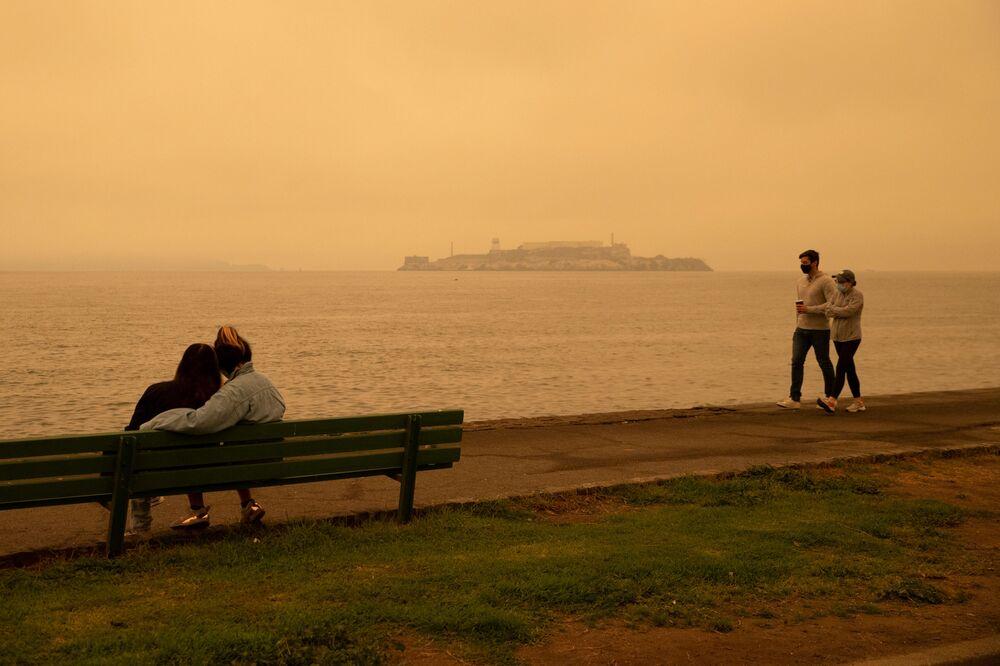 Wyspa Alcatraz, Kalifornia.