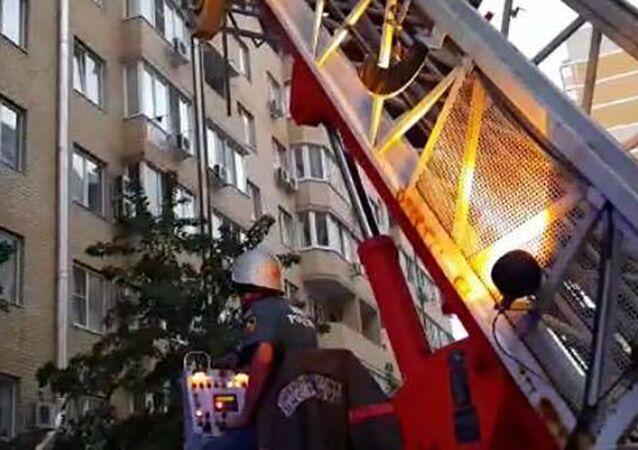 Pożar w Krasnodarze