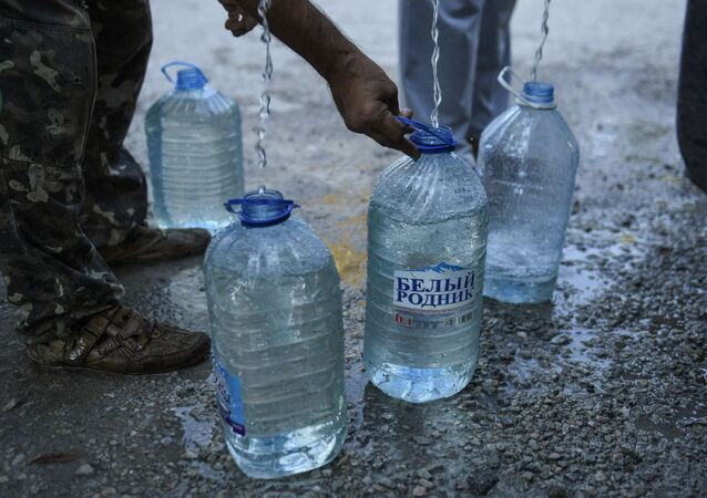 Nabieranie wody z cystern