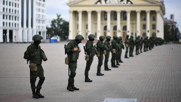 Siły bezpieczeństwa Białorusi - Sputnik Polska