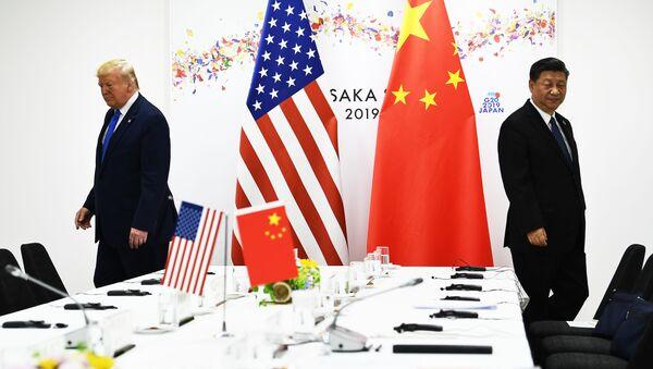 Xi Jinping i Donald Trump  - Sputnik Polska