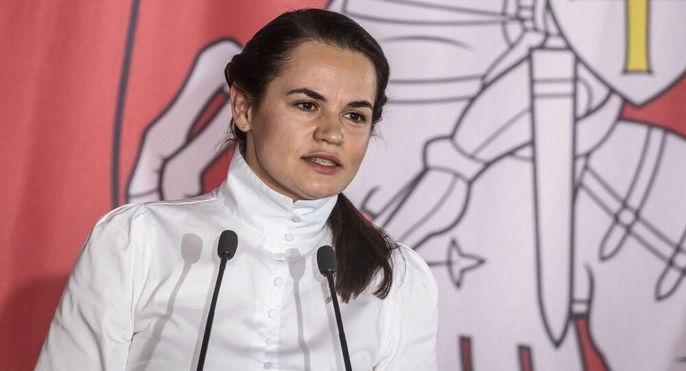 Była kandydatka na prezydenta Białorusi Swiatłana Cichanouska w Polsce