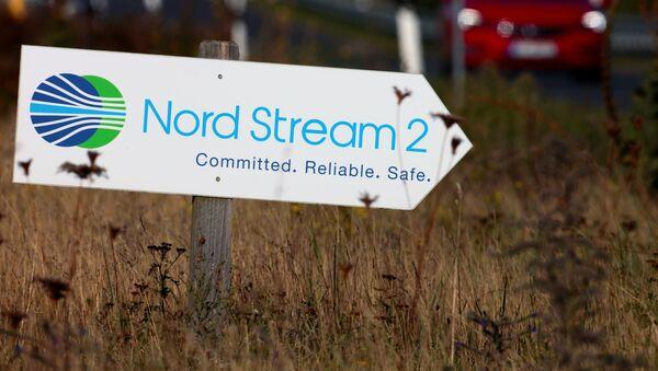 Tabliczka z napisem Nord Stream 2 - Sputnik Polska