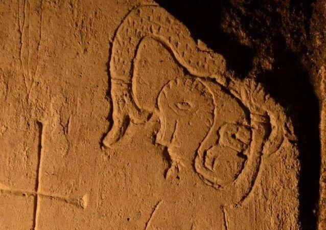 Rzadkie graffiti z cudowną bestią znalezione przez archeologów w Katedrze Spasskiej Pereslavl-Zalessky.