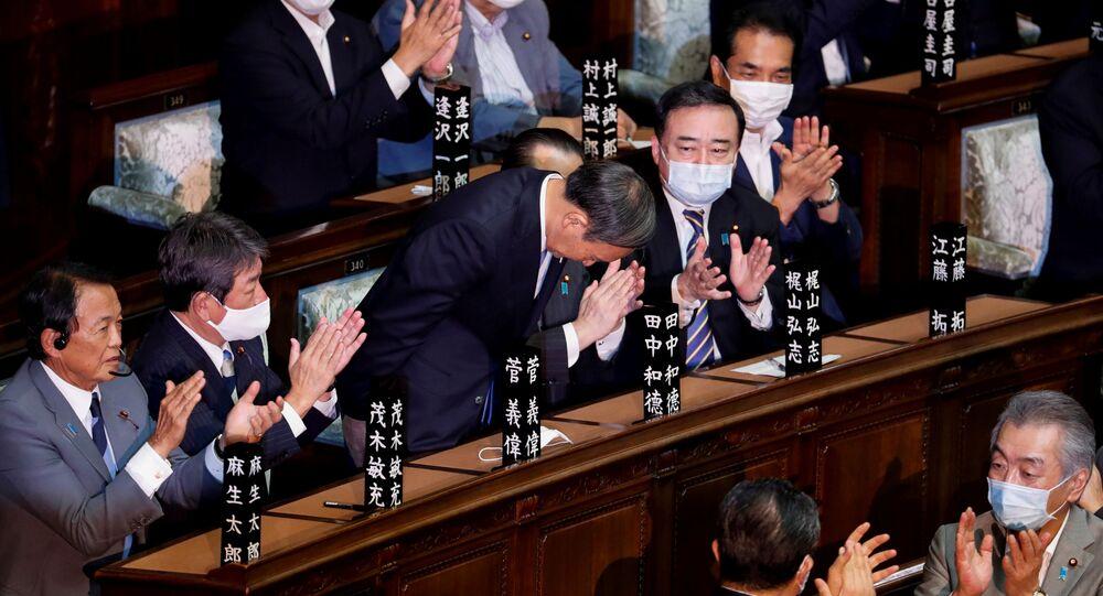 Wybrany na premiera Japonii Yoshihide Suga