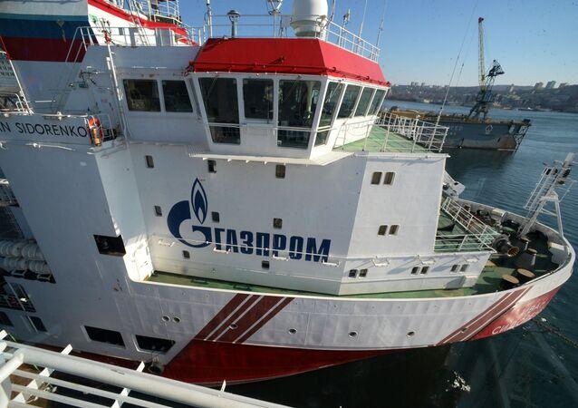 """Główny statek zaopatrzeniowy """"Iwan Sidorenko."""