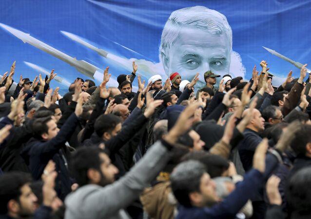Antyamerykańska demonstracja w Teheranie.