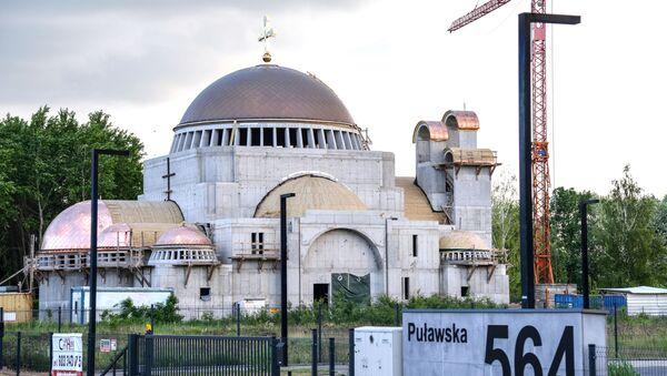 Świątynia prawosławna Hagia Sophia w trakcie budowy w Warszawie - Sputnik Polska