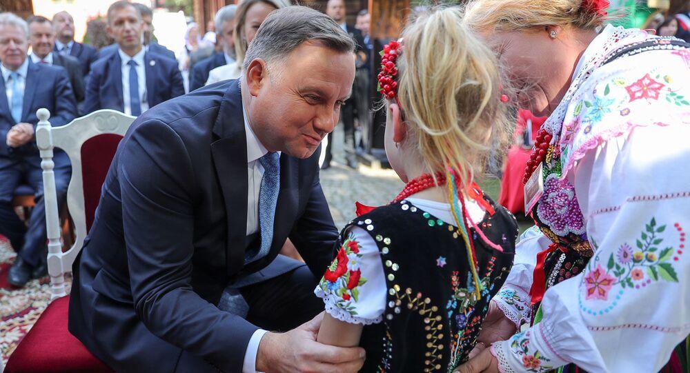 Andrzej Duda na dożynkach, 2019 rok