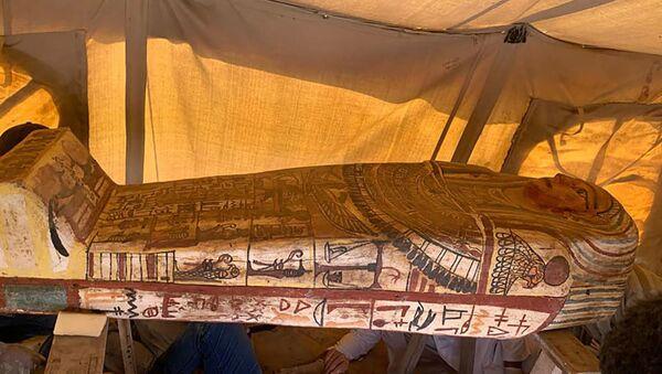 Wykopaliska archeologiczne w Sakkarze, Egipt. - Sputnik Polska