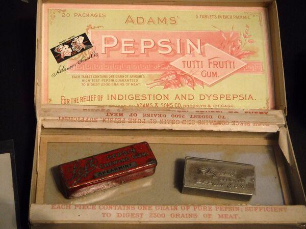 Adams Pepsin Tutti Frutti Gum guma do żucia w muzeum, 2016 rok  - Sputnik Polska