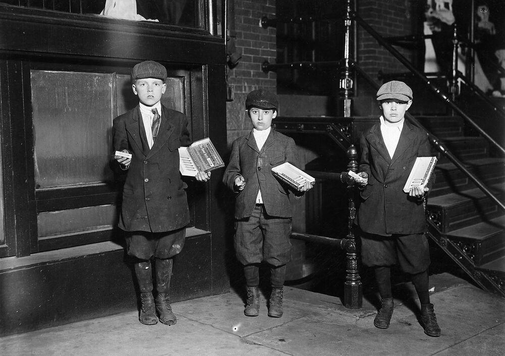 Dzieci sprzedające gumę do żucia, 1912 rok