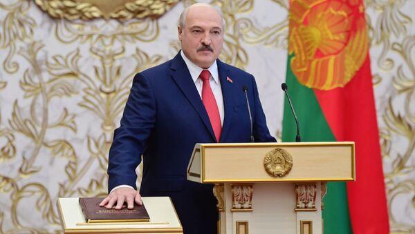 Alaksandr Łukaszenka podczas inauguracji - Sputnik Polska
