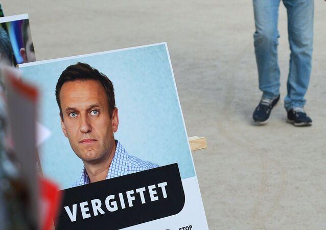 Aleksiej Nawalny w Berlinie.