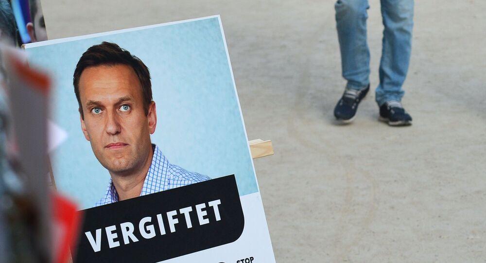 Aleksiej Nawalny w Berlinie