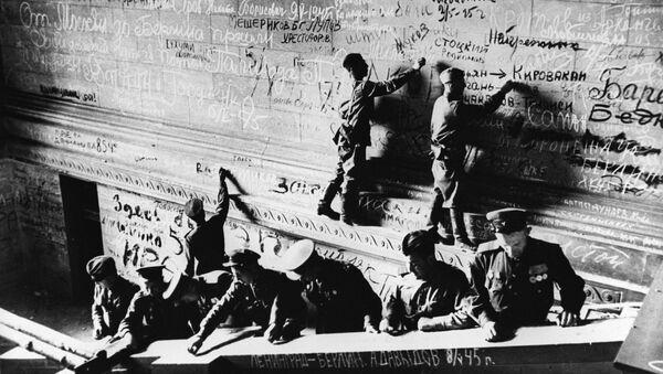 Zdobycie Reichstagu przez wojska radzieckie. Berlin 1945 r. - Sputnik Polska