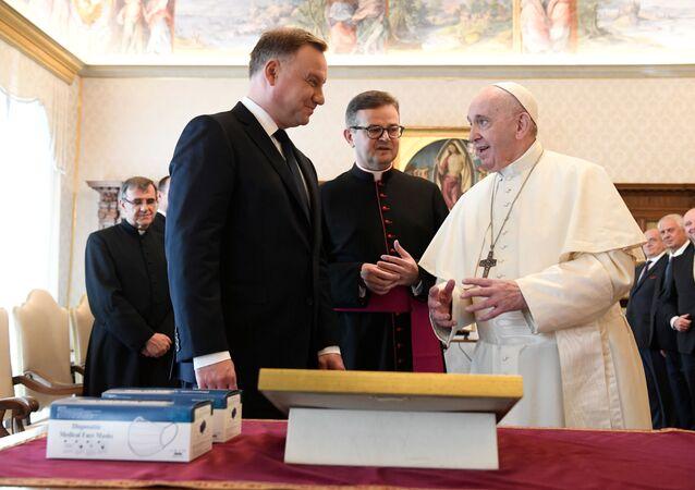 Andrzej Duda spotkał się z papieżem.