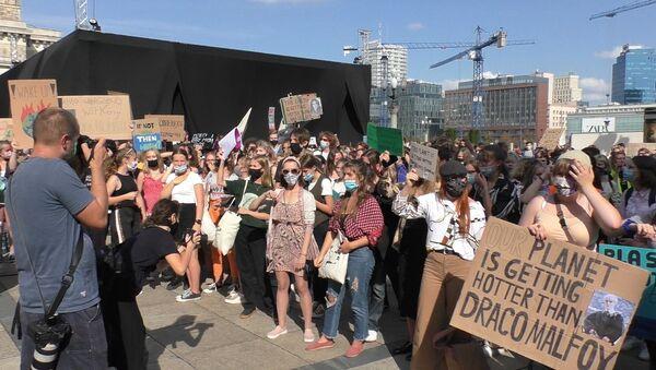 Młodzieżowy Strajk Klimatyczny w Warszawie 2020 - Sputnik Polska