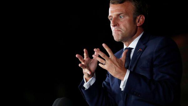 Prezydent Francji Emmanuel Macron. - Sputnik Polska