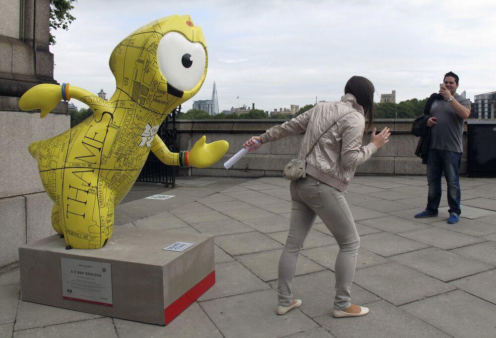 Turystka w Londynie
