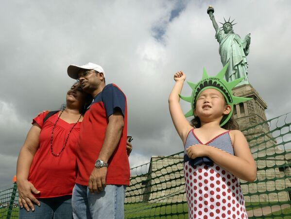 Turyści w Nowym Jorku - Sputnik Polska