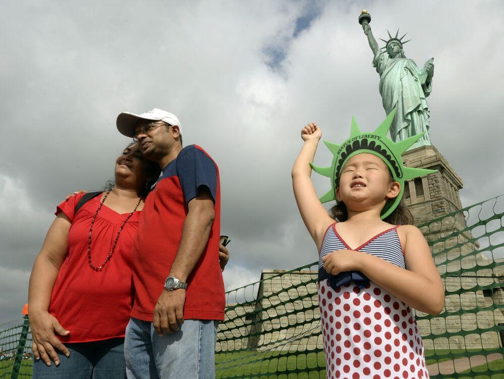 Turyści w Nowym Jorku