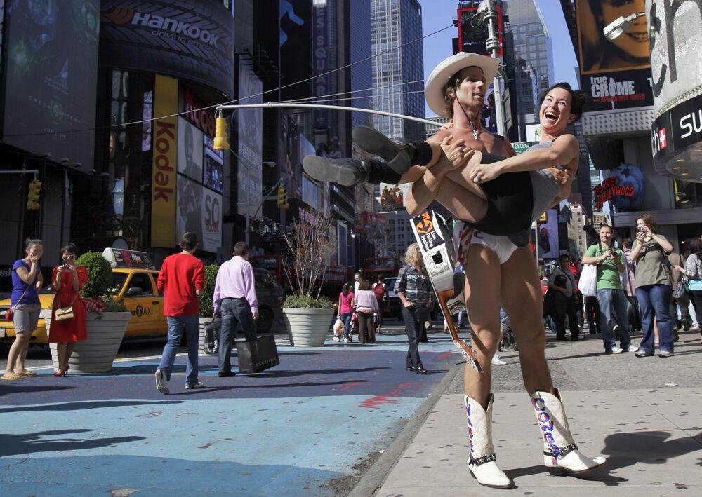 Turystka w Nowym Jorku