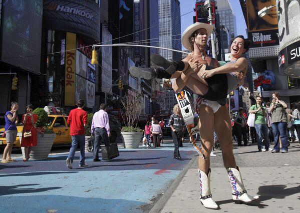 Turystka w Nowym Jorku  - Sputnik Polska