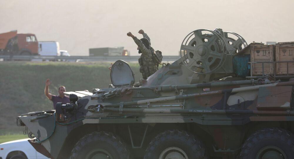 Żołnierz armii azerbejdżańskiej w Baku