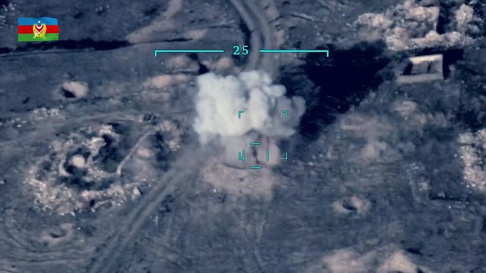 Ministerstwo Obrony opublikowało film przedstawiający rzekome zniszczenie armeńskiego sprzętu wojskowego na linii kontaktowej w Górskim Karabachu