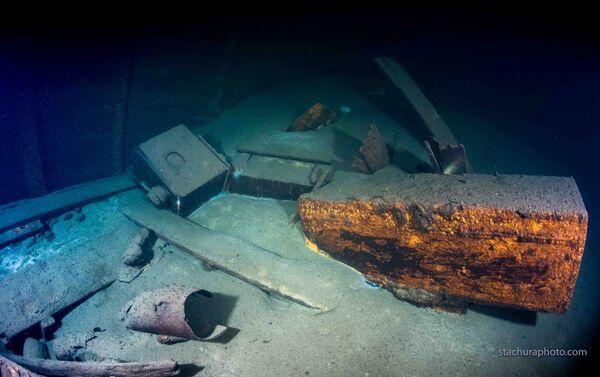 """Wrak niemieckiego statku z II wojny światowej """"Karlsruhe"""", odnaleziony przez polskich nurków podczas operacji poszukiwawczej na Morzu Bałtyckim - Sputnik Polska"""